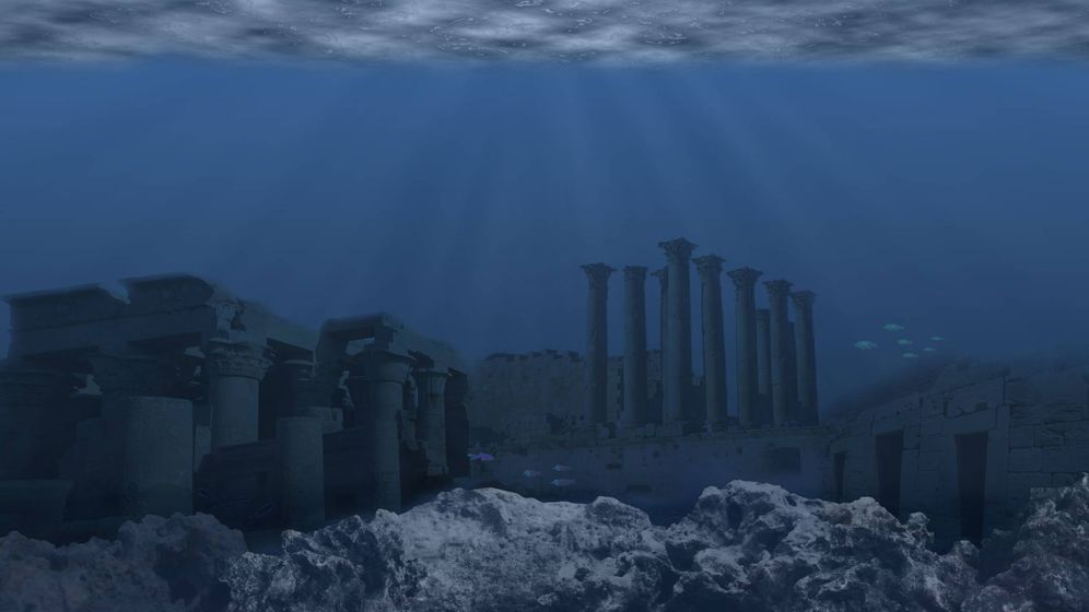 Foto: Reconstrucción de una ciudad submarina. (iStock)