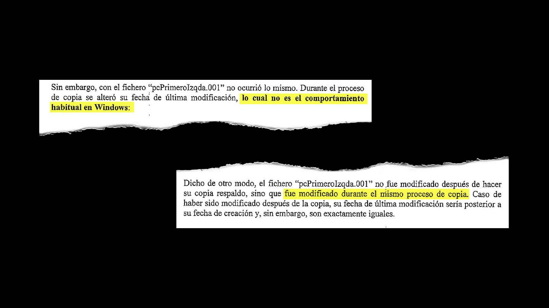 Recorte del informe pericial de la Agencia Tributaria. (EC)