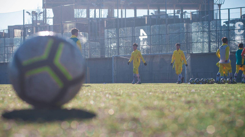 El equipo cadete se entrena en Alcobendas. (Carmen Castellón)