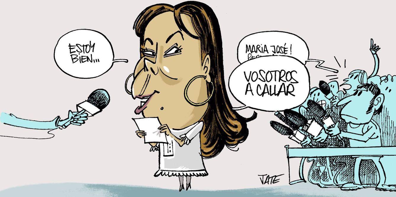 Foto: María José Campanario. Ilustración realizada por Jate para Vanitatis.