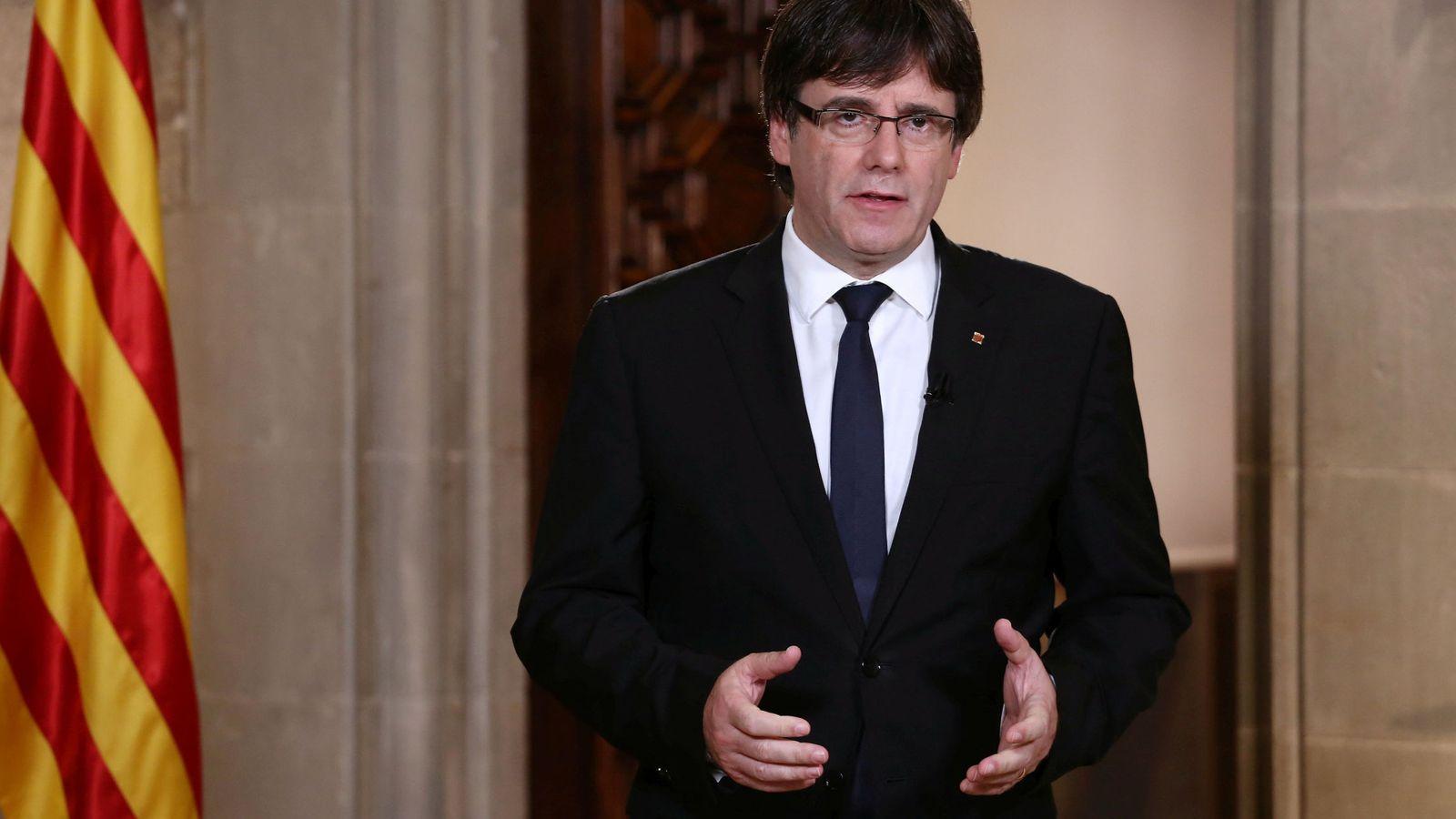Foto: Carles Puigdemont, presidente de la Generalitat de Cataluña. (EFE)