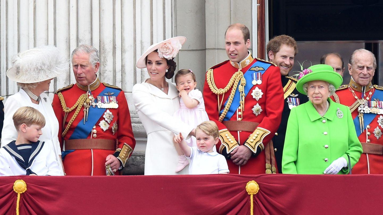 La familia real, celebrando el Trooping the Colour. (Reuters)