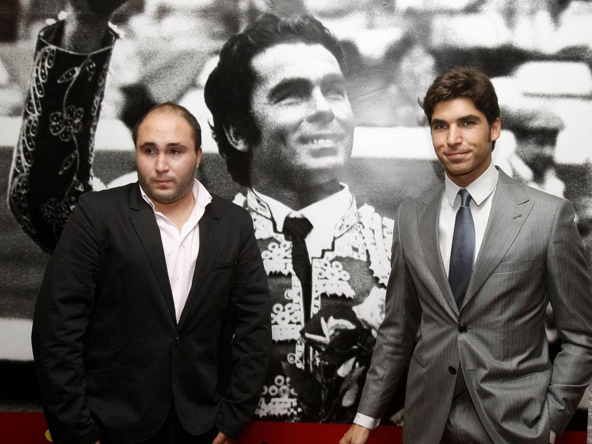 Foto: Cayetano Rivera junto a Kiko Rivera en una imagen de archivo. (EFE)