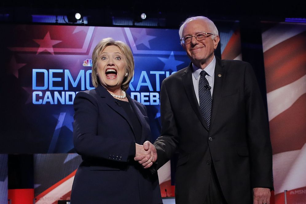Foto: Los aspirantes a la candidatura demócrata a la Presidencia, Hillary Clinton y Bernie Sanders (Reuters)