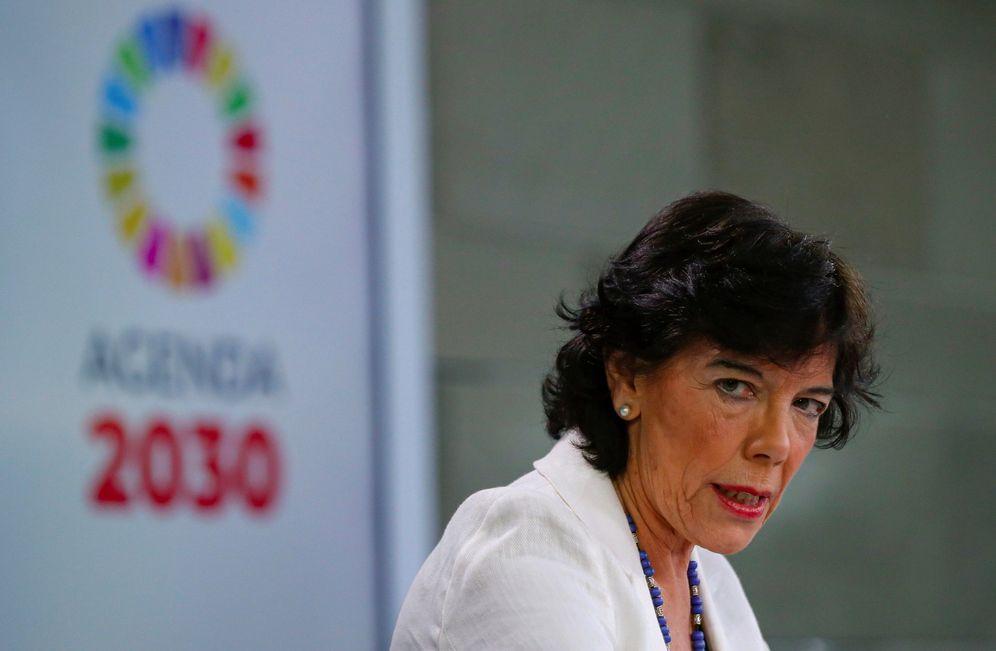 Foto: Isabel Celaá, este 14 de junio en rueda de prensa tras el Consejo de Ministros. (EFE)