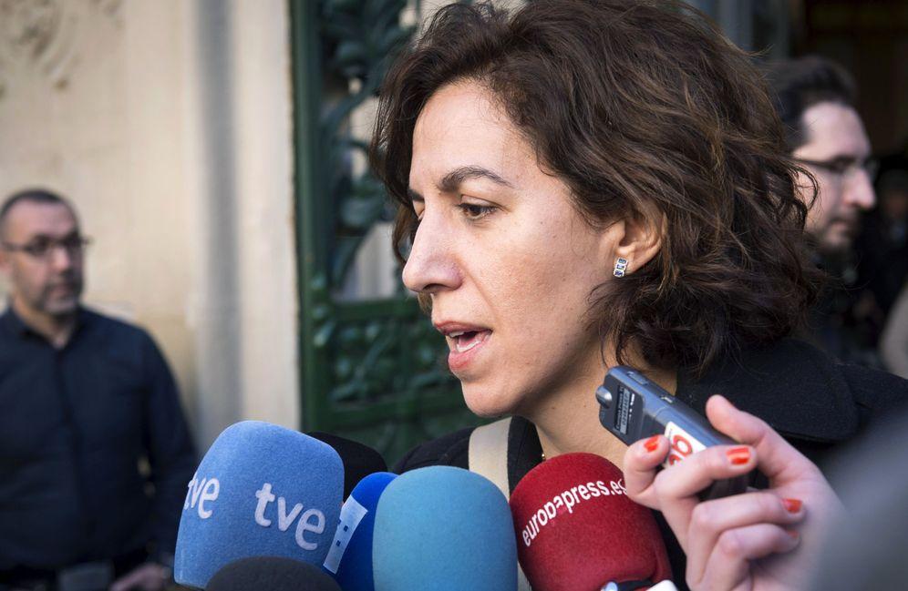 Foto: La hasta ahora diputada del PSOE Irene Lozano, el pasado 5 de abril. (EFE)