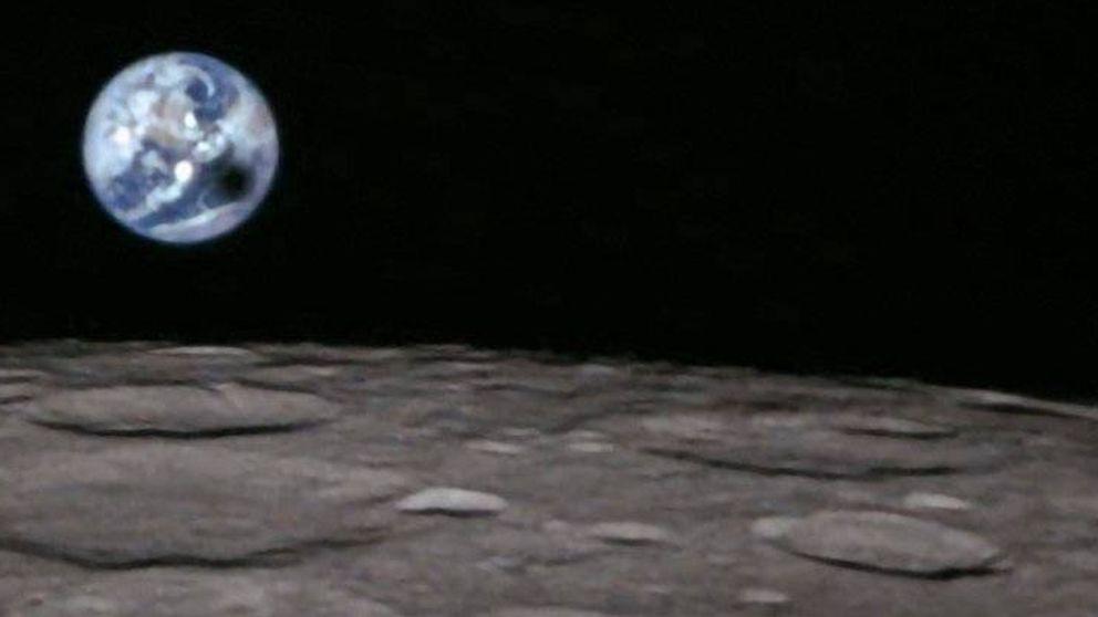 Así se ve un eclipse lunar desde la Luna