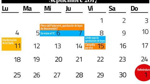 Cuatro semanas para el 1-O: el calendario exprés que Puigdemont no ha activado