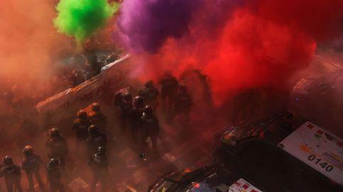 Tensión en Barcelona por el boicot a una marcha de policías