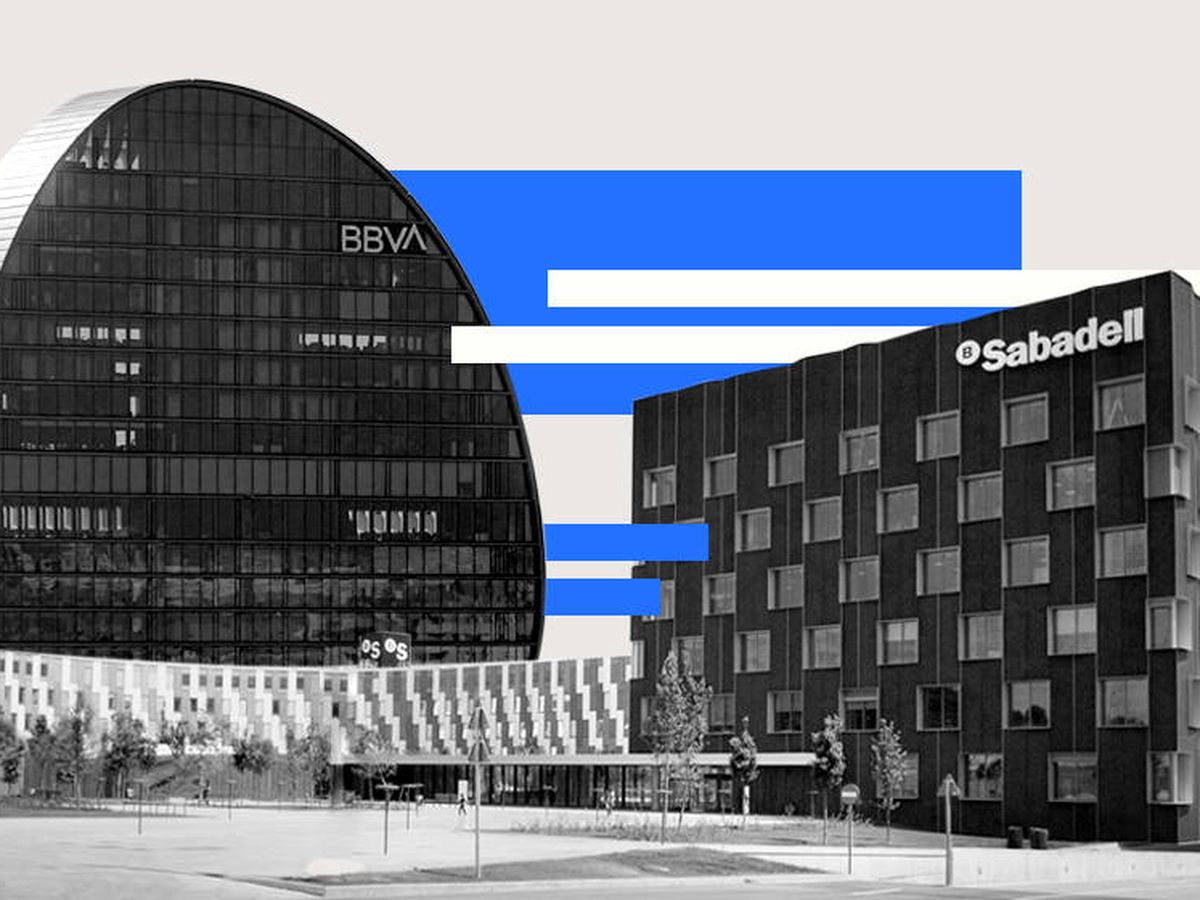 Foto: Sedes de BBVA y Sabadell. (EC)
