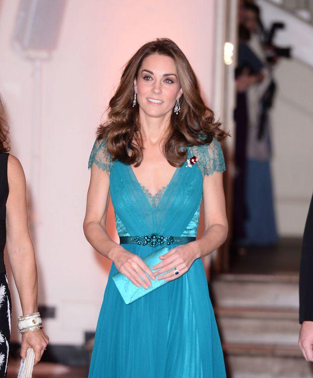 Foto: La duquesa de Cambridge y su vestido esmeralda. (Getty)