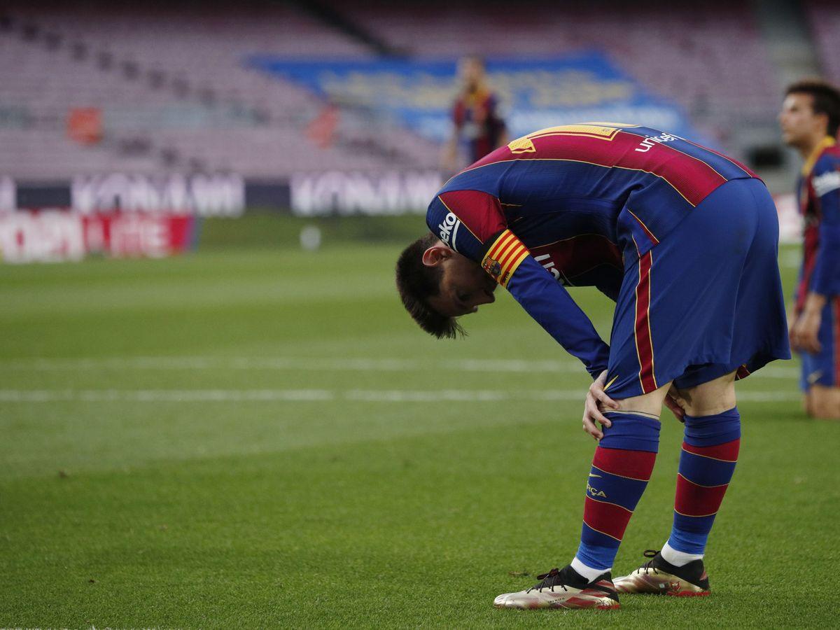 Foto: Messi, después del partido contra el Celta. (Reuters)