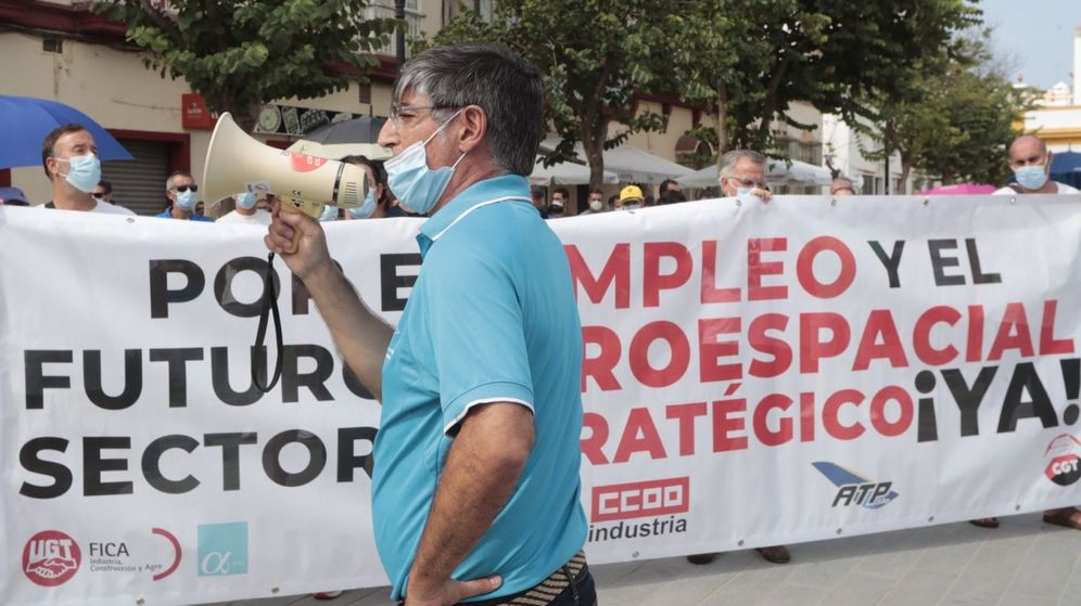 Foto: Seguimiento masivo de una huelga en Cádiz. (EFE)