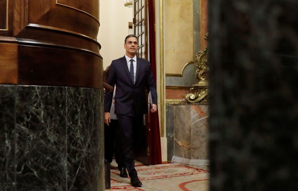 Foto: Pedro Sánchez, este 17 de octubre durante la sesión de control al Gobierno en el Congreso. (EFE)