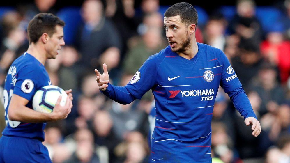 Foto: Hazard celebra un gol con el Chelsea. (Reuters)