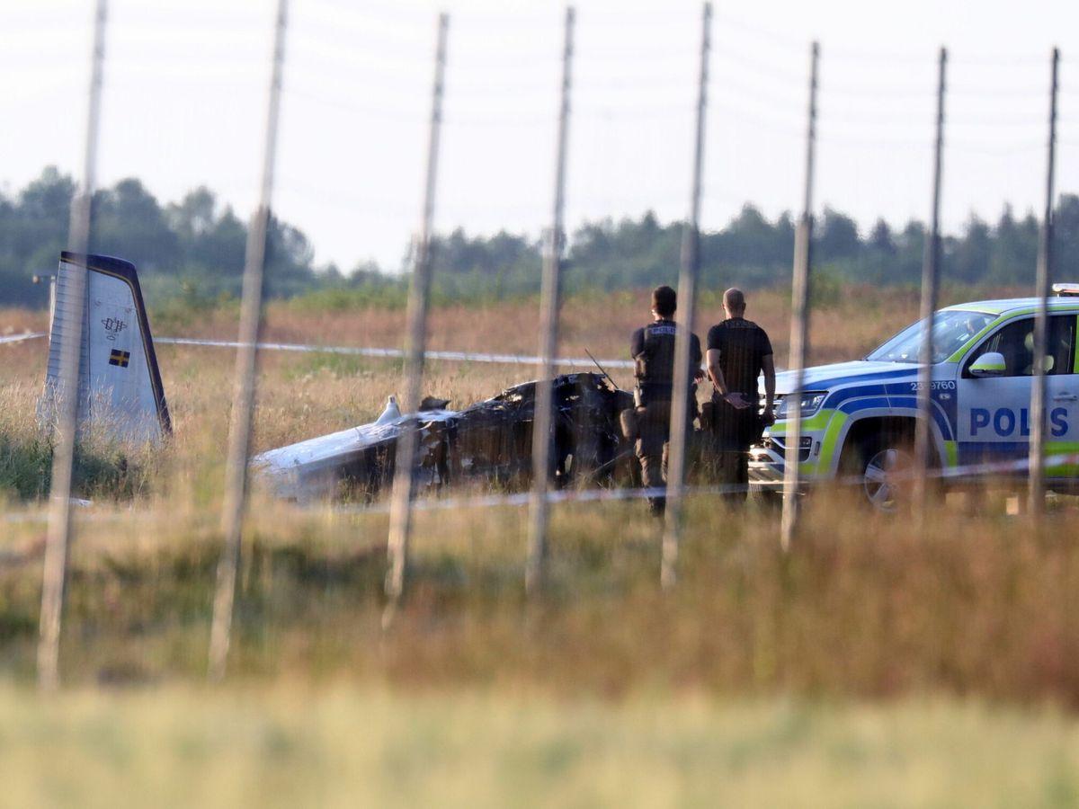Foto: Accidente aéreo en Orebro. (EFE)