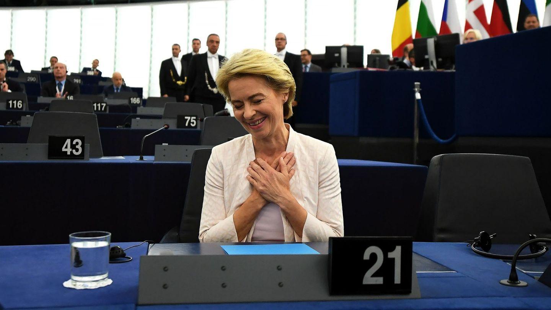 Úrsula von der Leyen celebra su nombramiento como nueva presidenta de la Comisión Europea. (EFE)