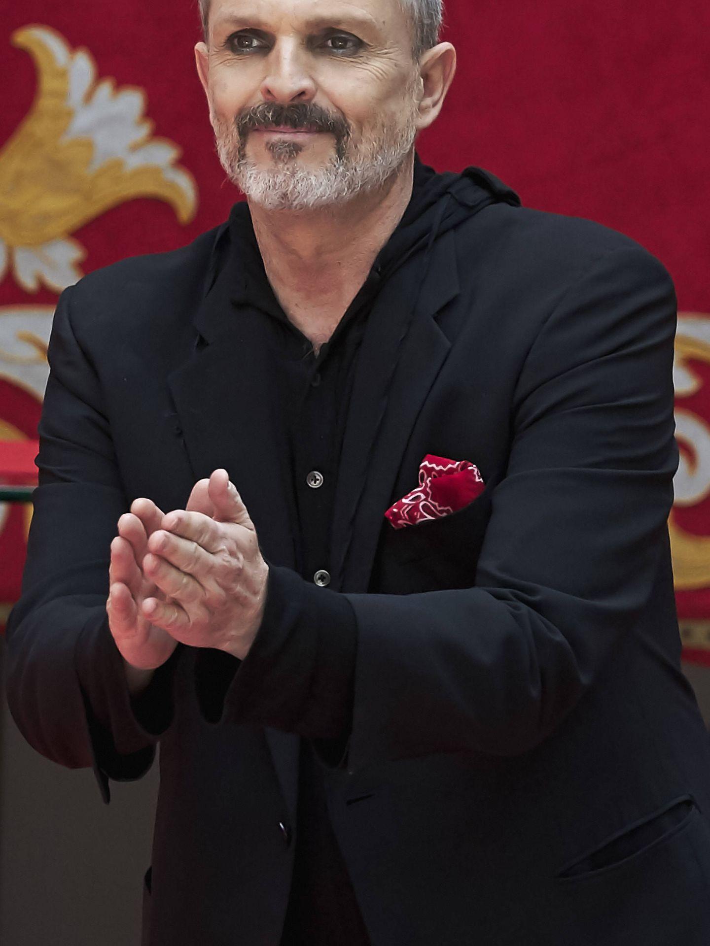 Miguel Bosé recibe la medalla de Oro al Mérito por las Bellas Artes. (Getty)
