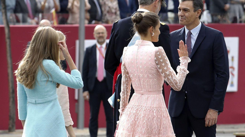 Los aplausos al Rey dejan los fuera Sánchez en anécdota en el desfile de la Fiesta Nacional