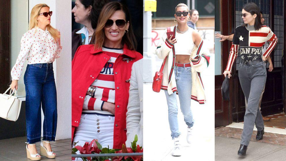 Kendall Jenner y Hailey Baldwin se apuntan al rojo, blanco y azul