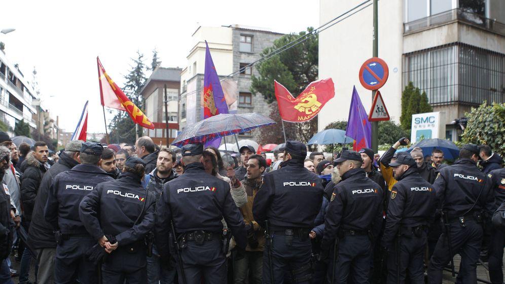 Foto: Enfrentamientos en la Embajada de Cuba en Madrid. (EFE)