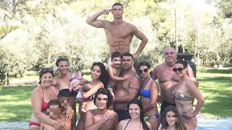 Cristiano Ronaldo en la foto que compartió en las redes. (Instagram)