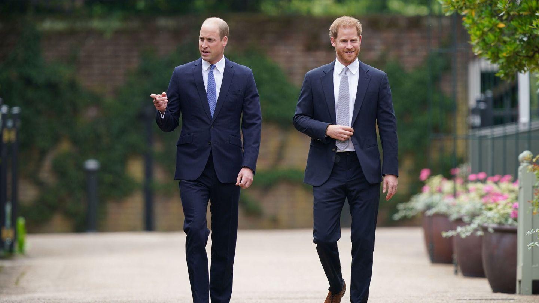 Harry y Guillermo, llegando al homenaje. (Reuters)