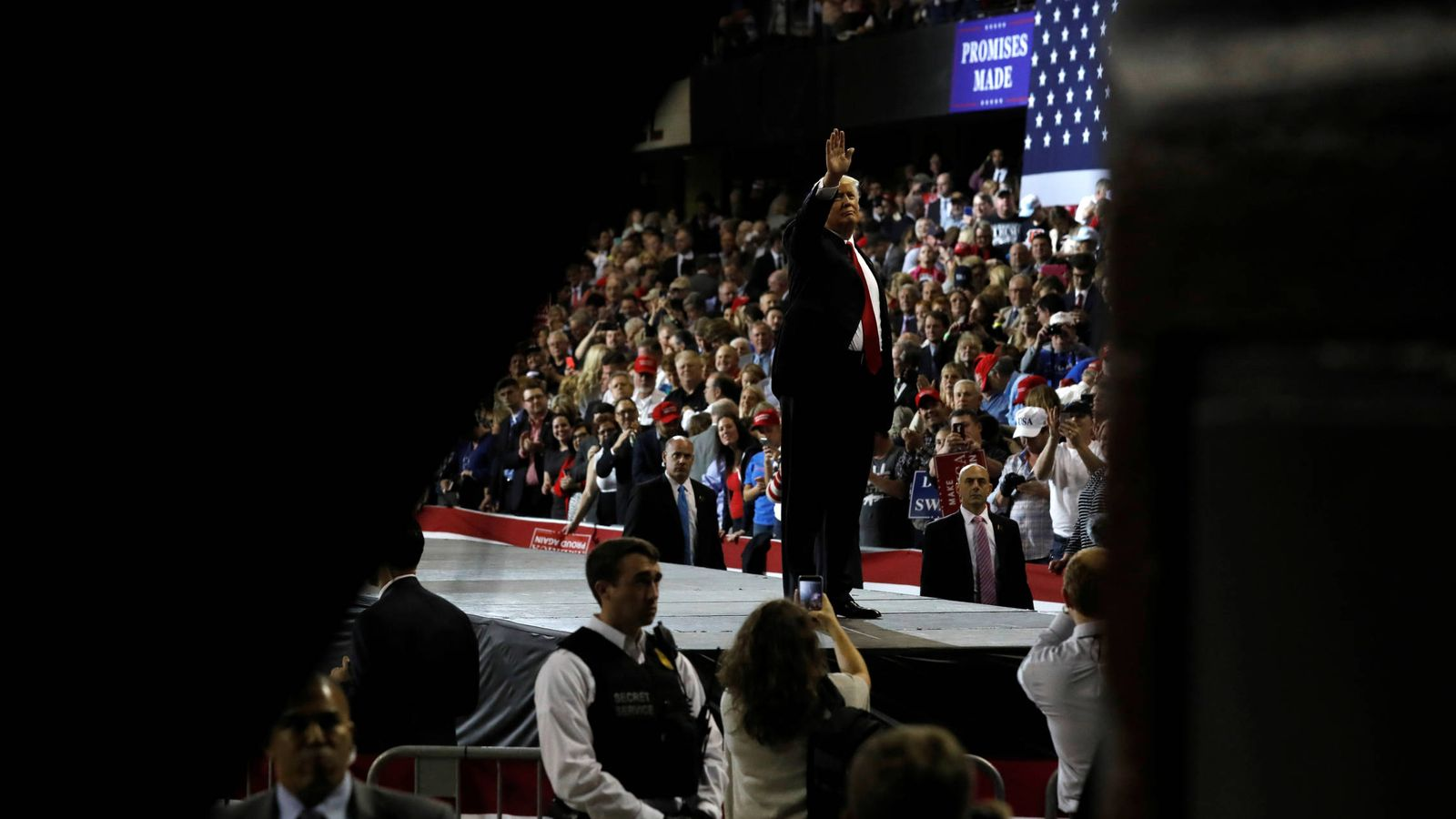 Foto: El presidente Donald Trump durante un mitin en el Kentucky Exposition Center, en Louisville, Kentucky, el 20 de marzo de 2017 (Reuters).