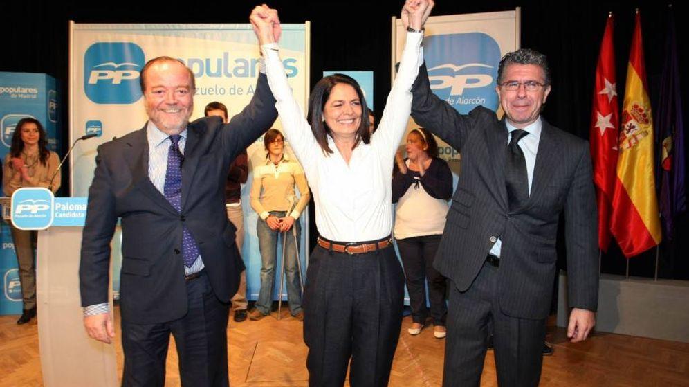 Foto: De izquierda a derecha, Gonzalo Aguado, Paloma Adrados y Francisco Granados, este último principal imputado en Púnica. (EFE)