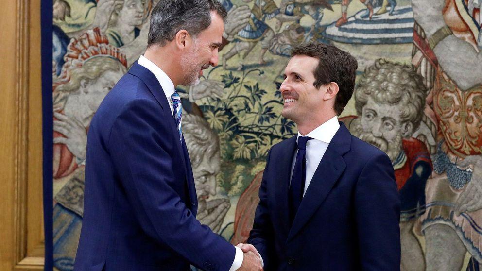 Felipe VI recibe a Pablo Casado como nuevo líder del Partido Popular