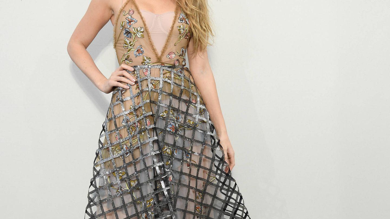 Blake Lively, en la Semana de la Moda de París este invierno. (Getty)