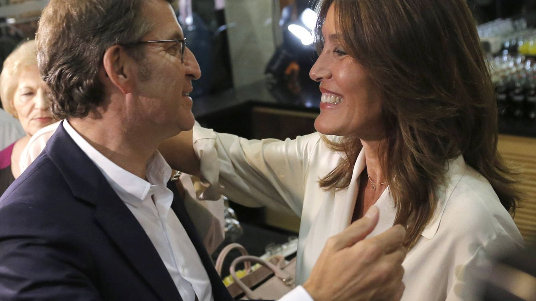Foto: Nuñez Feijóo junto a Eva Cárdenas (EFE)