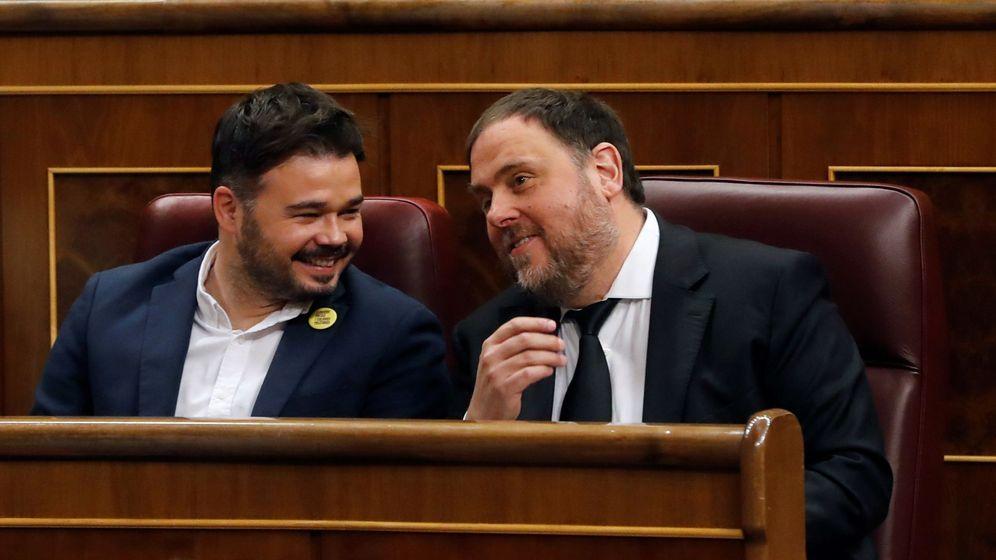 Foto: Oriol Junqueras, junto a Gabriel Rufián. (EFE)