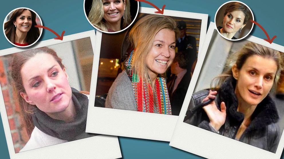 Letizia, Máxima o Kate: así son las reinas y princesas a cara lavada
