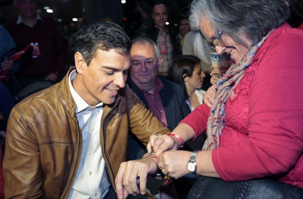 Foto: Pedro Sánchez, el pasado 18 de marzo durante el acto con militantes y simpatizantes en Granada. (EFE)