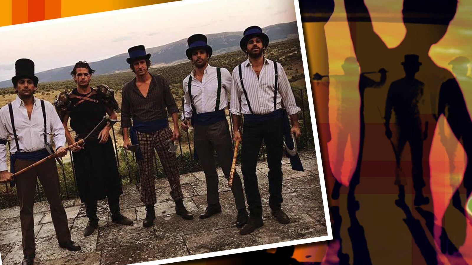 Foto: Alonso Aznar, Felipe Cortina, Alvaro Falcó y Curro Caravaca, en un fotomontaje elaborado por Vanitatis.