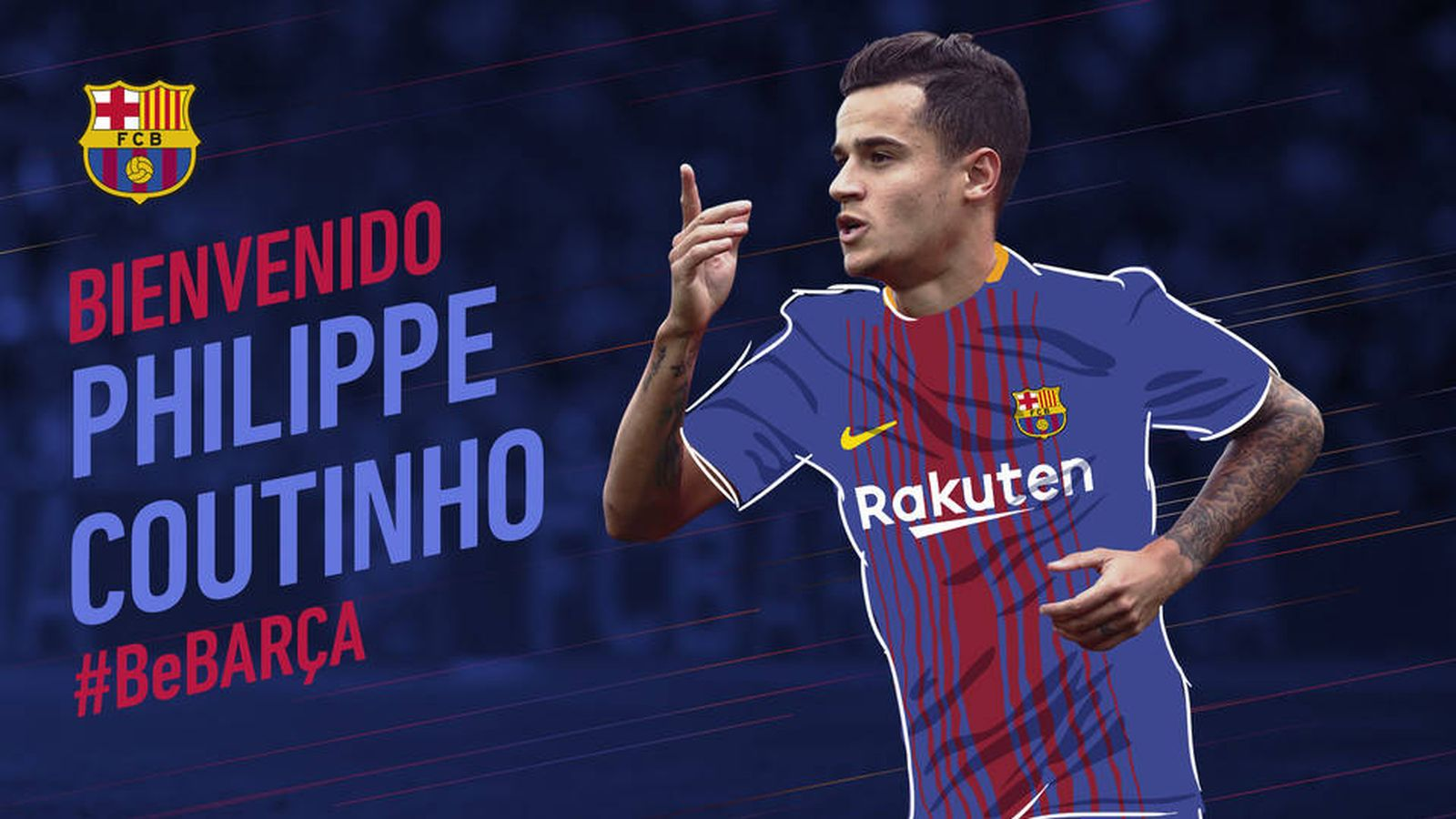Foto: Así recibió el Barcelona a Coutinho. (FCBarcelona)