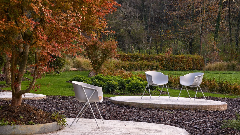 Foto: La silla 'Bai', diseño de Ander Lizaso, en versión de acero.