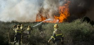 Post de En la zona cero de los incendios llegados de Portugal: