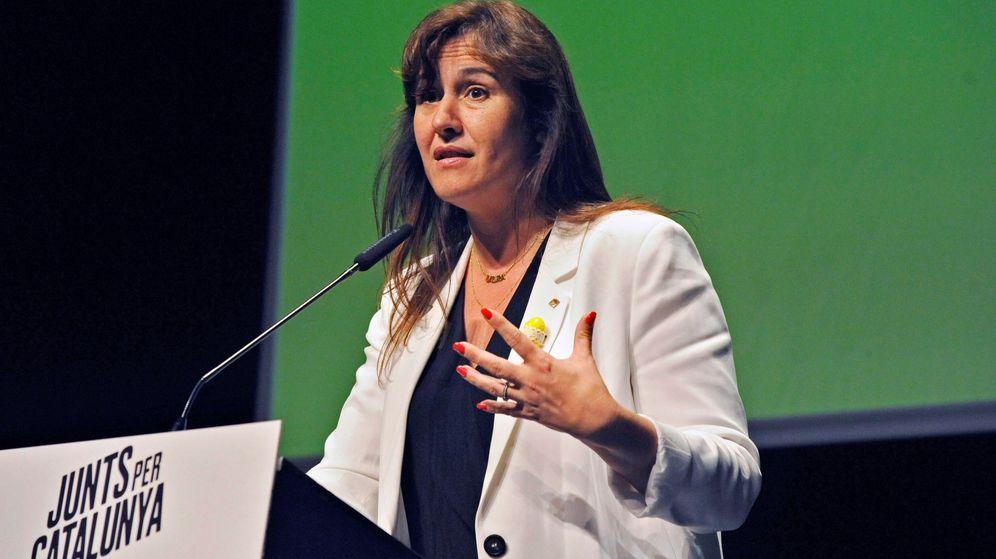 Foto: La número dos por Barcelona de JxCAT, Laura Borràs. (EFE)