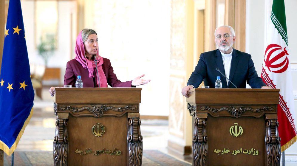 Foto: Foto de archivo de Federica Mogherini y Javad Zarif, ministro de exteriores iraní. (Reuters)