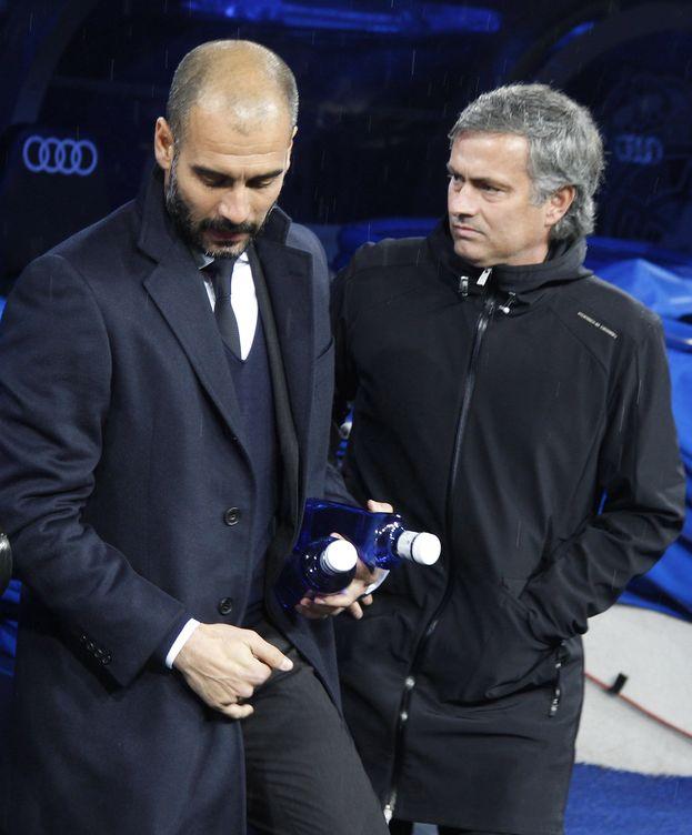 Foto: Guardiola y Mourinho, en el Bernabéu (Reuters).