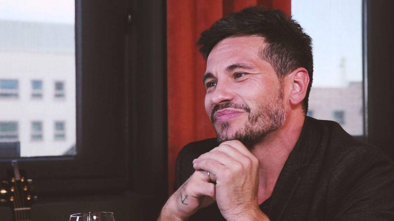 Foto: El cantante David de María en un instante de la entrevista