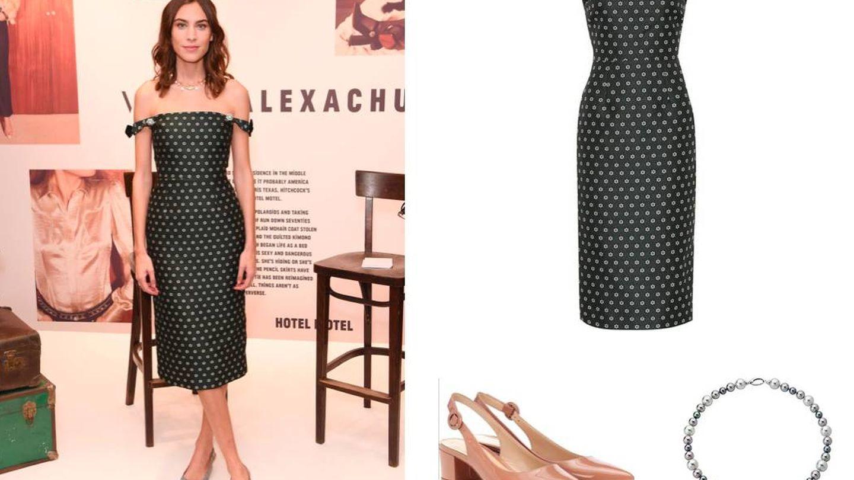 Elegante y sensual con un outfit que destila el sello Alexa Chung. (Getty Images)