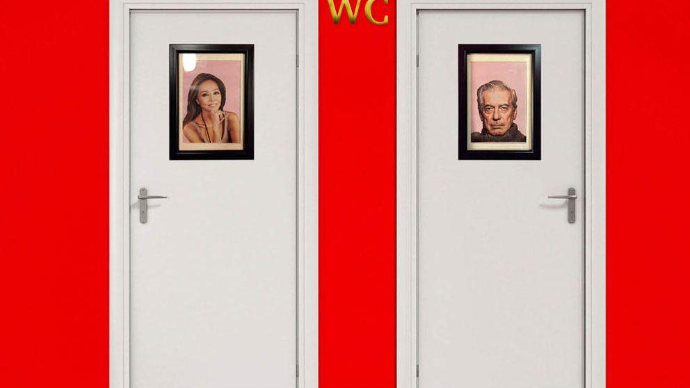 Isabel Preysler y  Vargas Llosa, protagonistas del WC de un bar