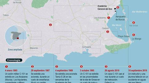 Accidente de avión del Ejército en Murcia