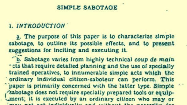 Foto:  Una guía de sabotaje fácil, sencilla y útil.