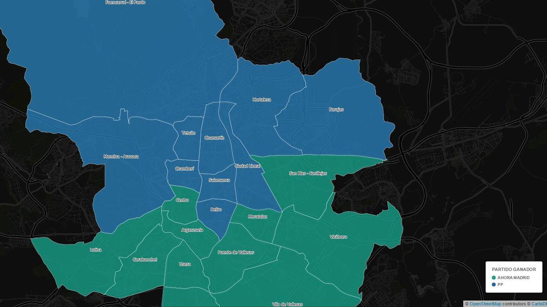 Foto: Retiro es el distrito más al sur que ganan los populares (EC LAB)