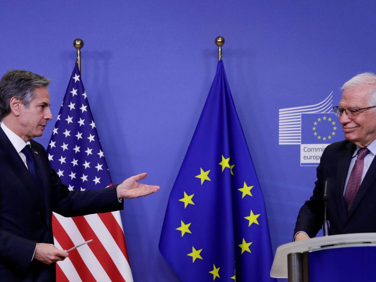Foto: Blinken y Borrell en Bruselas. (Reuters)