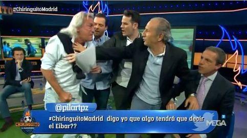 'El chiringuito' se desmadra sin Pedrerol con una brutal pelea: Lo voy a matar